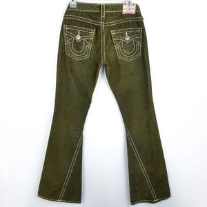 True Religion Joey Big T Green Corduroy Jeans